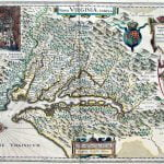 Blaeu - 1630 map of the new Colony of Virginia