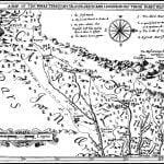 Lederer's 1670 map of southern Virginia, North Carolina and South Carolina