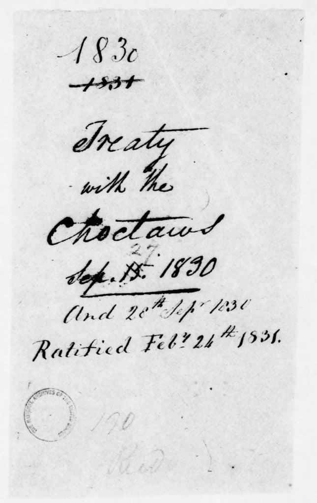 Page 2 - Treaty of Dancing Rabbit Creek