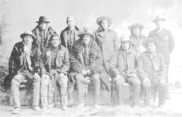 Piegan Chiefs and Headmen, Blackfeet Agency, Montana