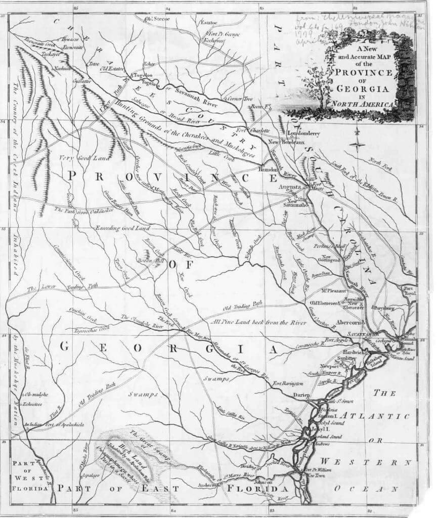 1780 Georgia Map