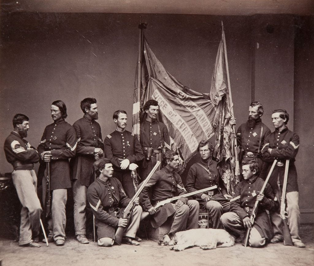 Colour bearers of the 71st Illinois