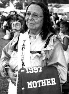 "Ella Weaver Taylor, mother of Chief Wilford ""Longhair"" Taylor, was one of the many MOWA elders interviewed for the tribe's petition for federal recognition. (Courtesy of MOWA Choctaw Cultural Center)"