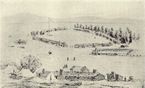 Fort Walla Walla in 1857