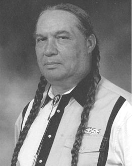 "Chief Wilford ""Longhair"" Taylor (Courtesy of MOWA Choctaw Cultural Center)"