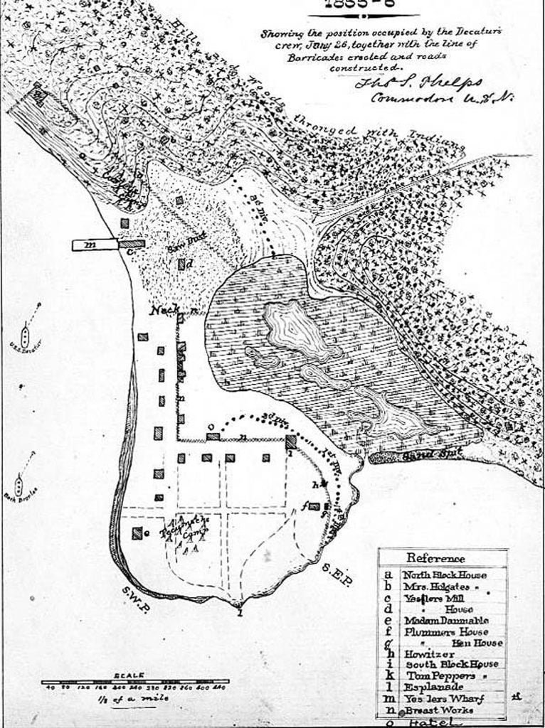 Map of Battle of Puget Sound