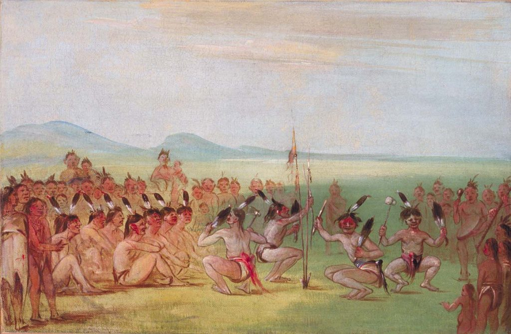 Eagle Dance, Choctaw, George Catlin, 1835-7