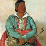 Mó-sho-la-túb-bee, He Who Puts Out and Kills, Chief of the (Choctaw) Tribe, by George Catlin, 1834