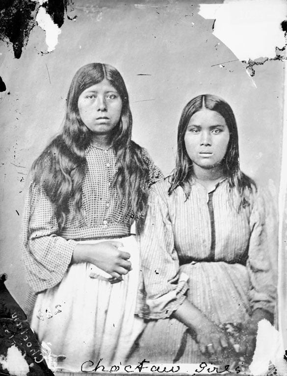 Portrait of Choctaw Two Girls, 1868