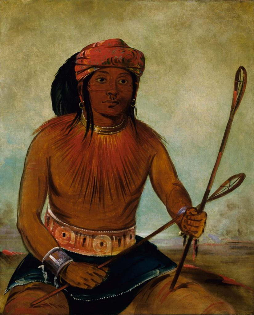 Tul-lock-chísh-ko, Choctaw Ball Player. George Catlin, 1834