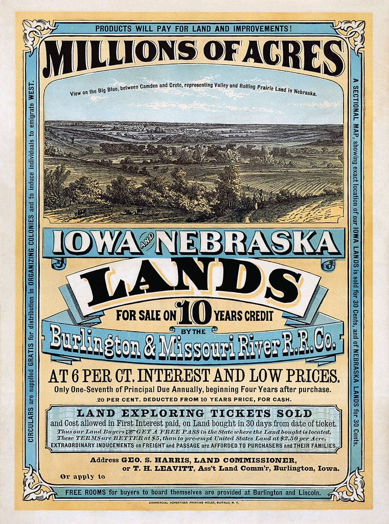 Bill for Iowa and Nebraska Lands