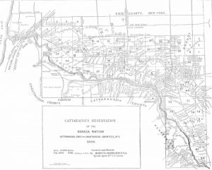Cattaraugus Reservation Map, 1890