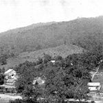 Eastern Cherokee Training School and Mt. Noble, from Spray Ridge and US Indian Agency
