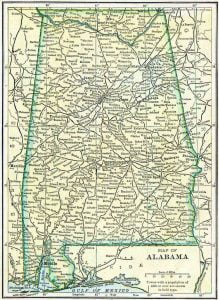 1910 Alabama Census Map