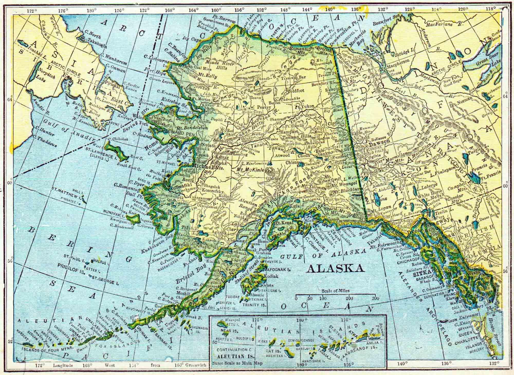 1910 Alaska Census Map   Access Genealogy