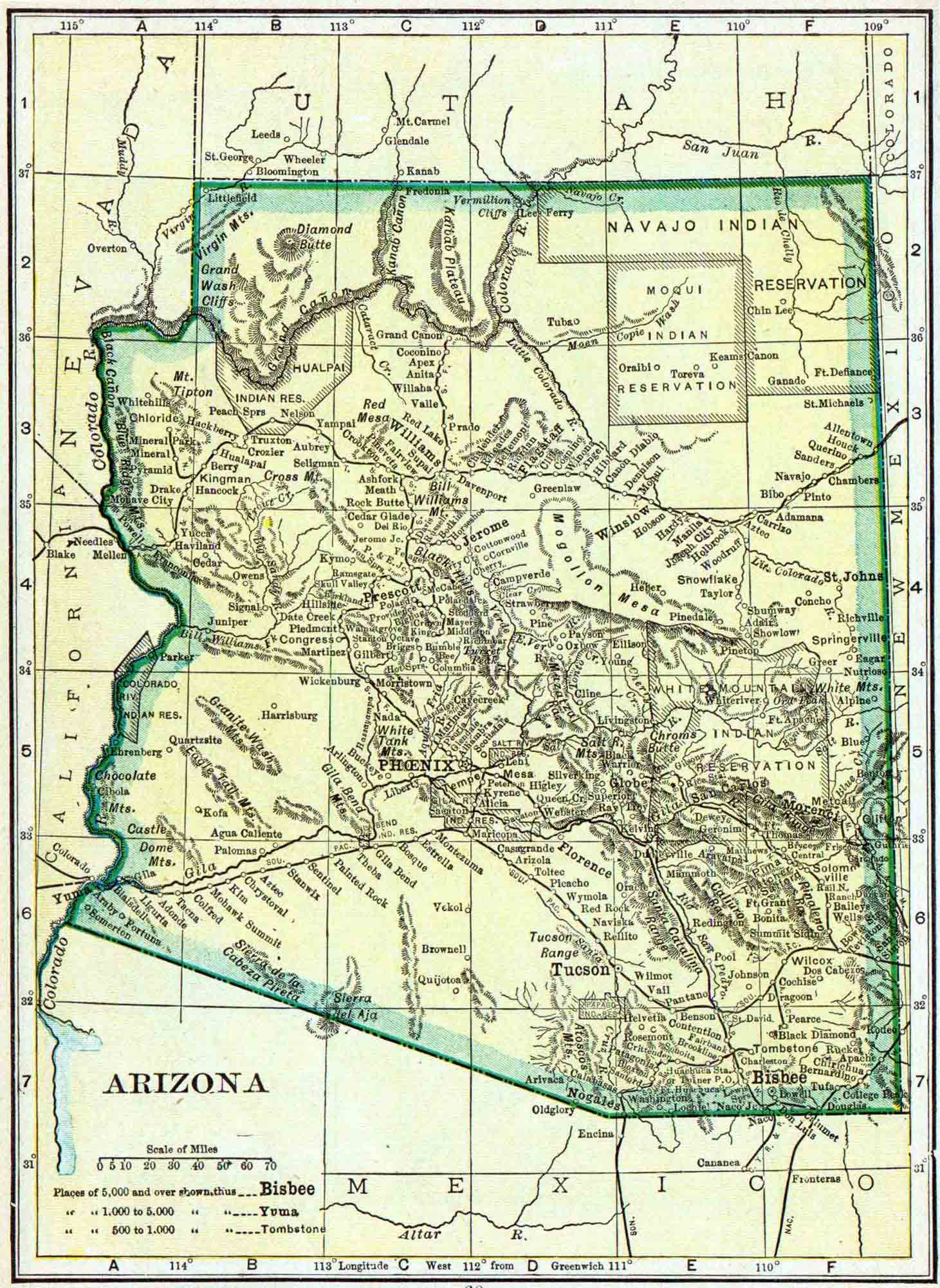 Map Of Young Arizona.Arizona Genealogy Arizona Free Genealogy Access Genealogy