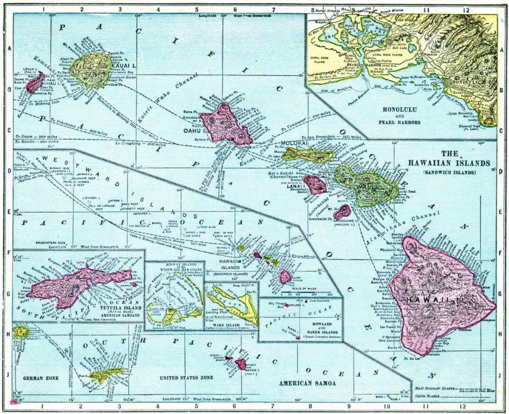 1910 Hawaii Census Map