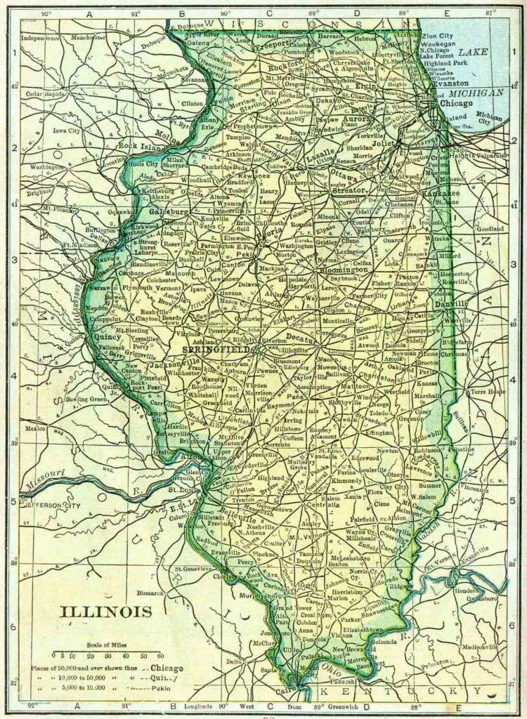 1910 Illinois Census Map