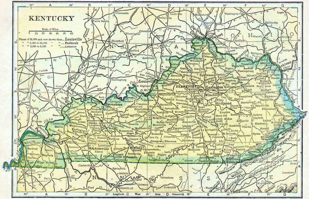 1910 Kentucky Census Map