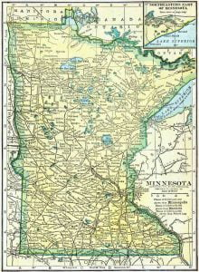 1910 Minnesota Census Map