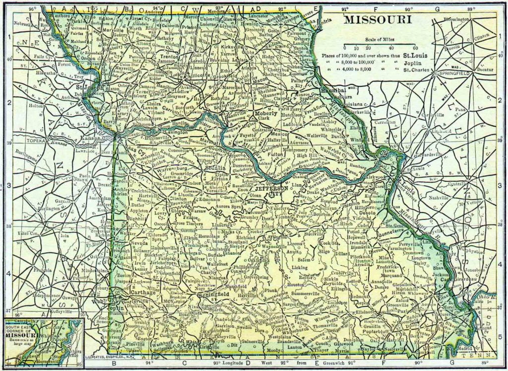 1910 Missouri Census Map