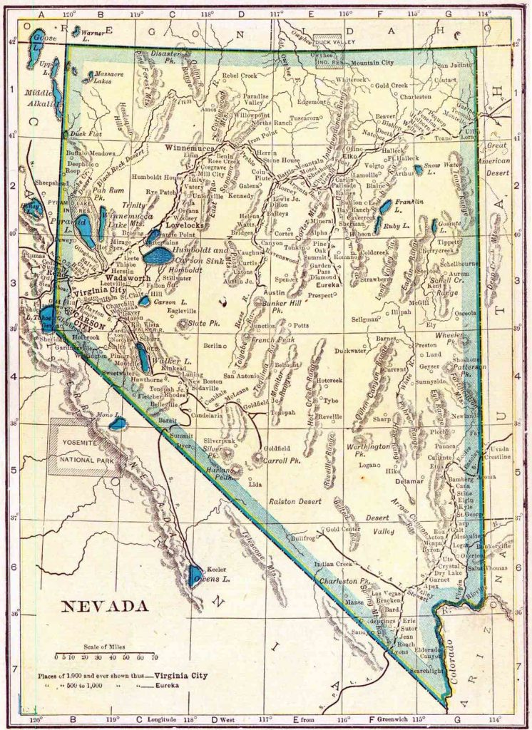 1910 Nevada Census Map