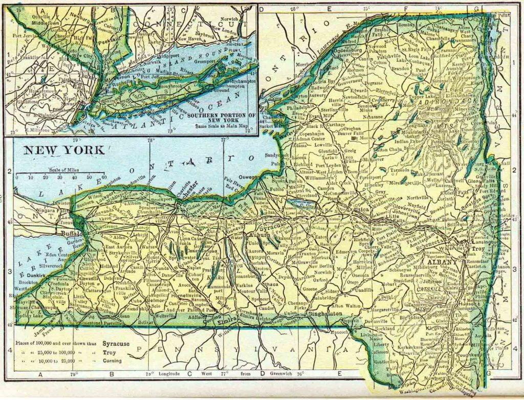 1910 New York Census Map