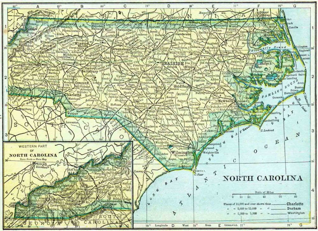 1910 North Carolina Census Map