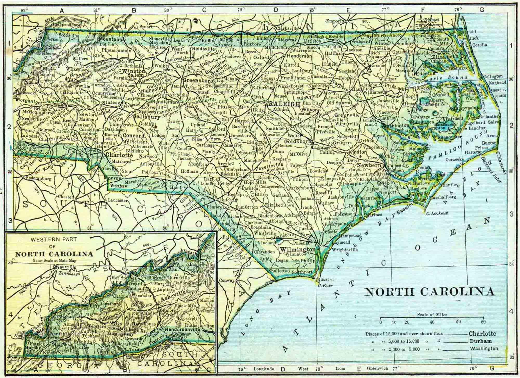 1910 North Carolina Census Map | Access Genealogy