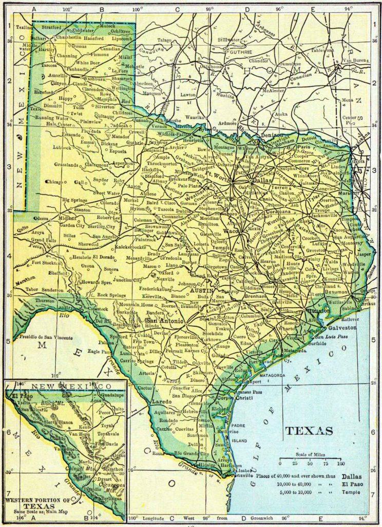 1910 Texas Census Map