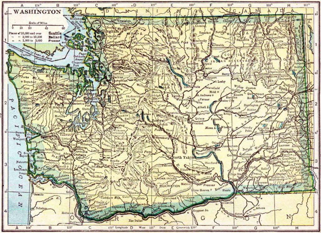1910 Washington Census Map
