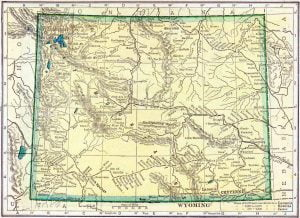 1910 Wyoming Census Map