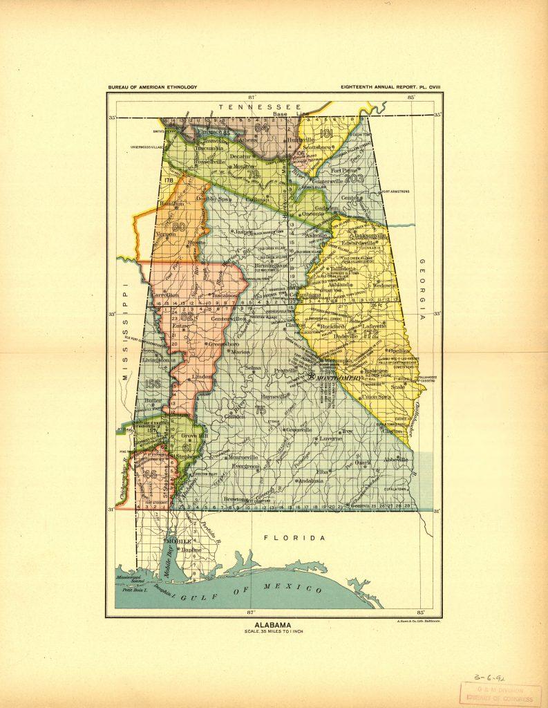 Alabama Land Cession Map