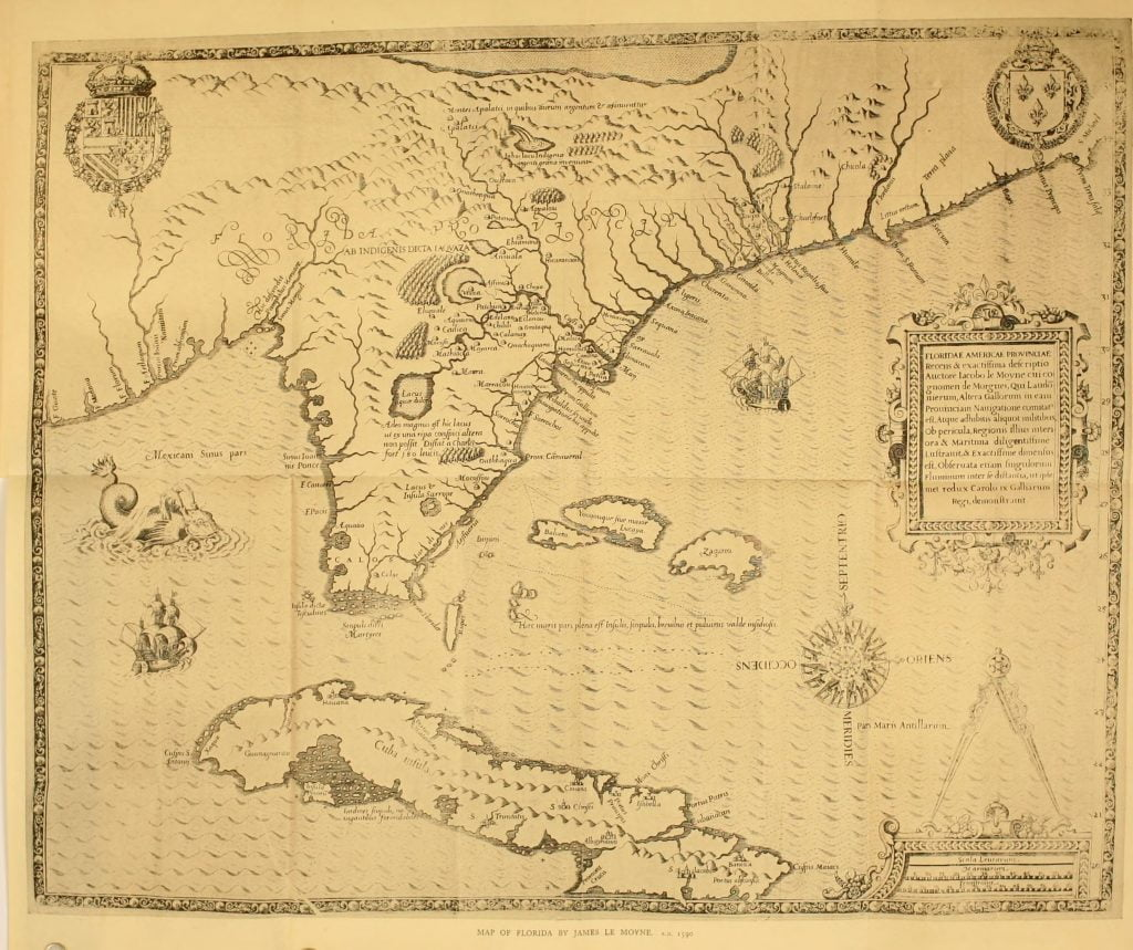1591 Floridae Americae Provinciae Map