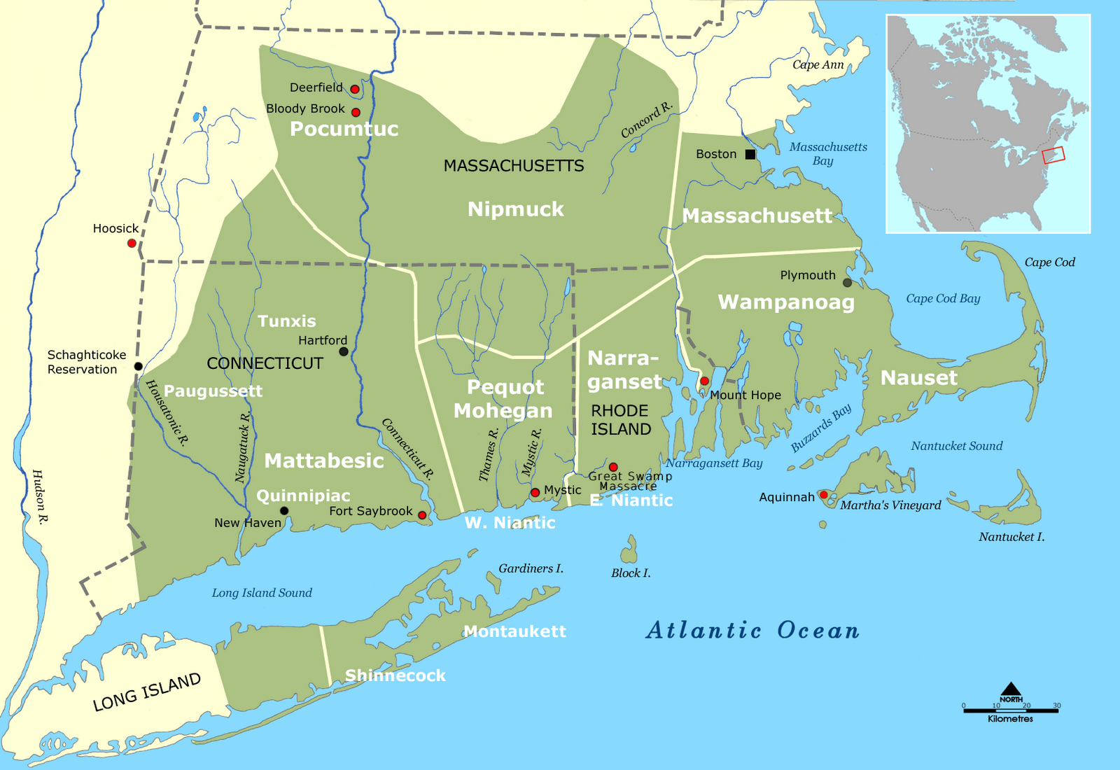 Early Indian Wars In New England  Access Genealogy-8394