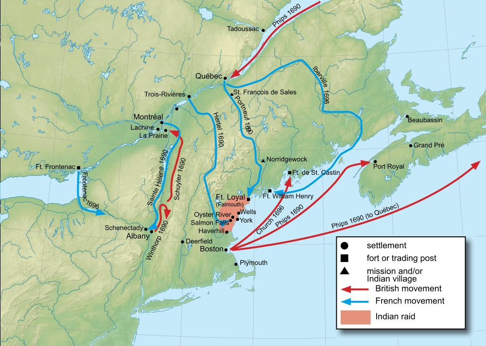 King Williams War Map