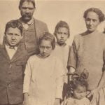 Mattaponi man and Chickahominy wife and children.