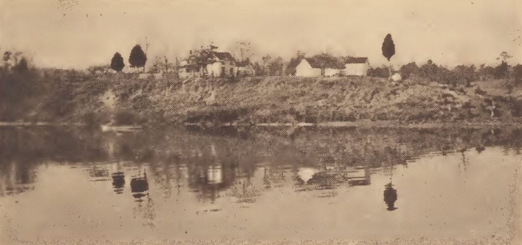 Part of the Mattaponi Indian town seen from the river