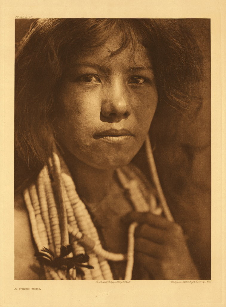 Pomo girl photographed by Edward S. Curtis in 1924