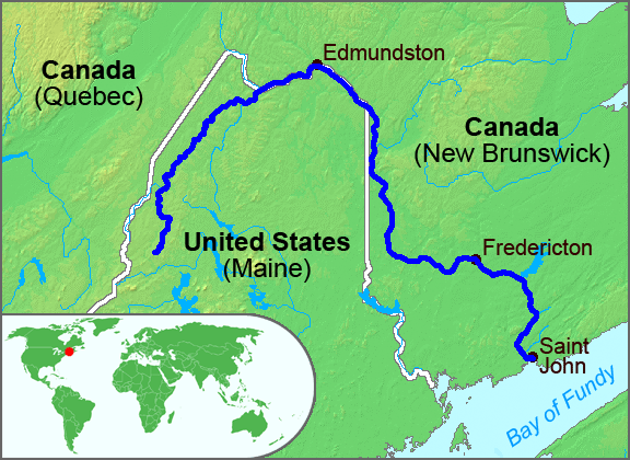 St John River Map