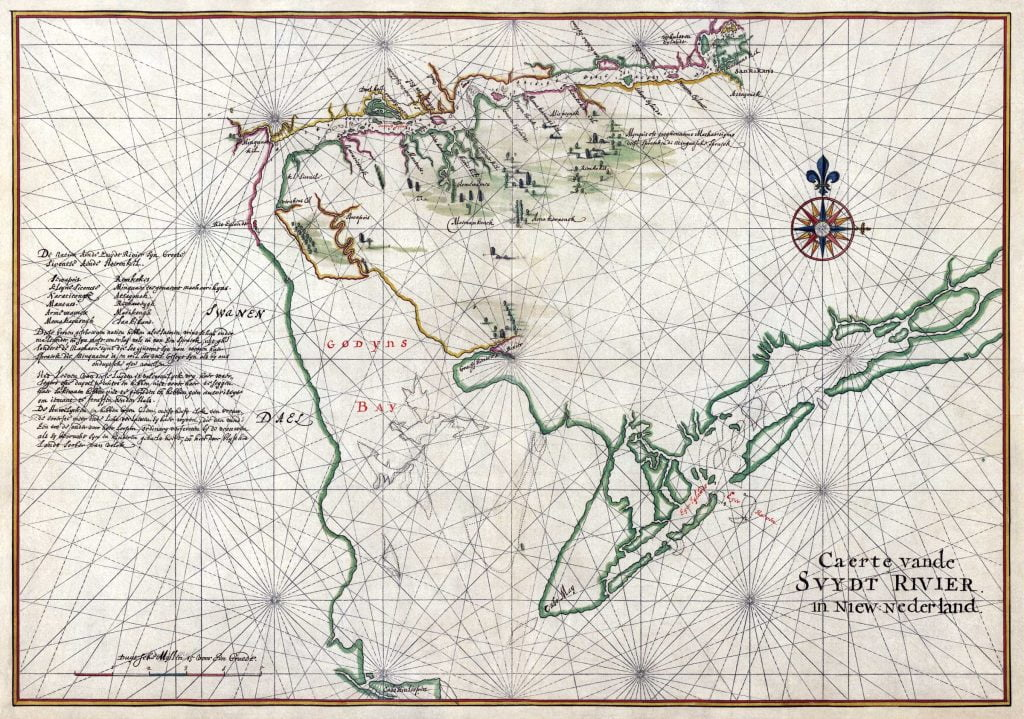 Vinckeboons Map of Delaware-Bay