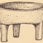 Model of Pamunkey stewing pan of clay.