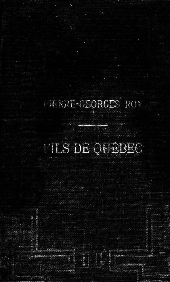 Fils de Quebec cover