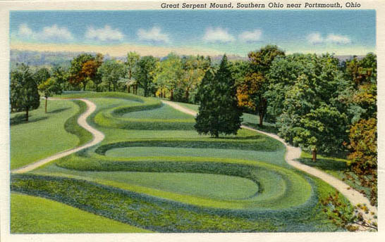 Great Serpent Mound Postcard