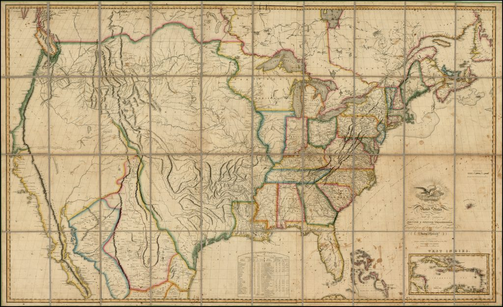 1818 Melish Map of the United States