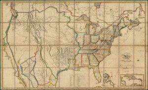 1818 Melish Map of the United States