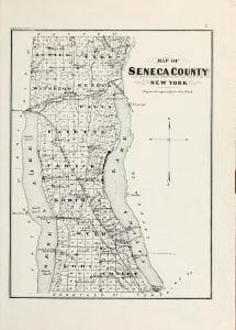 1876 Map of Seneca County NY