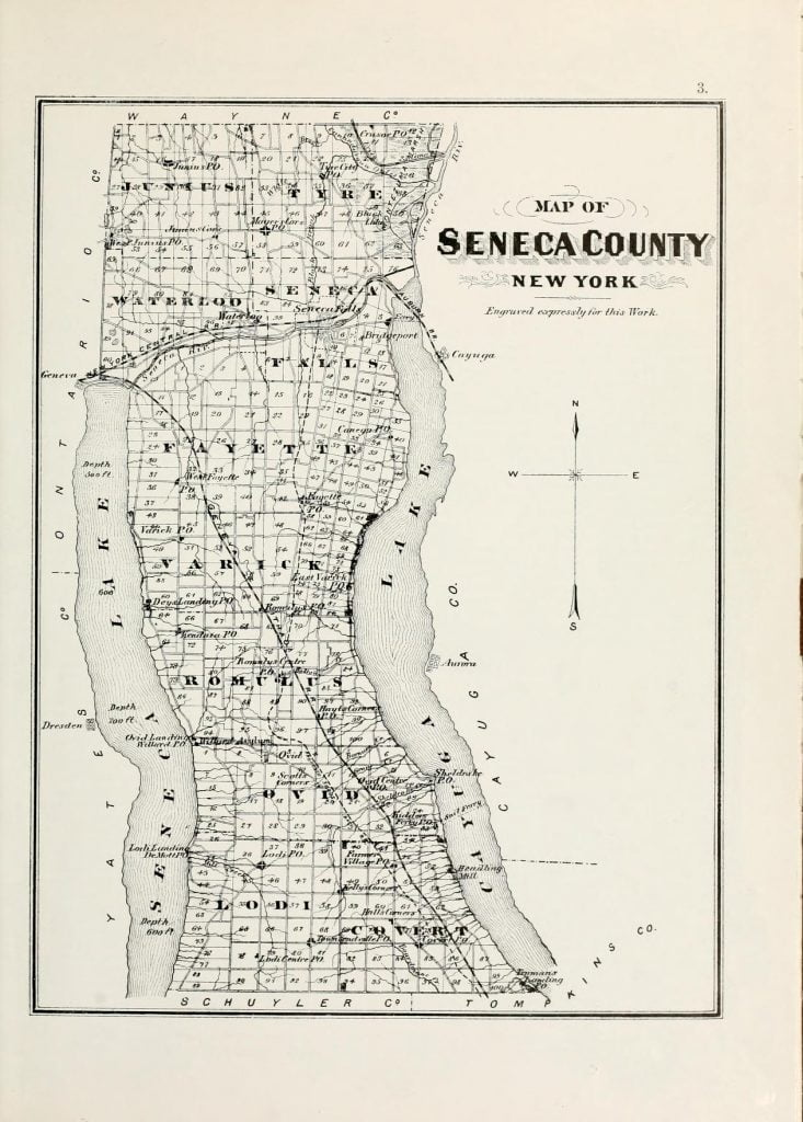 1876 Map of Seneca County NY