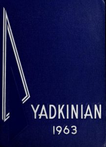 1963 Cover of the Yadkinian High School Yearbook