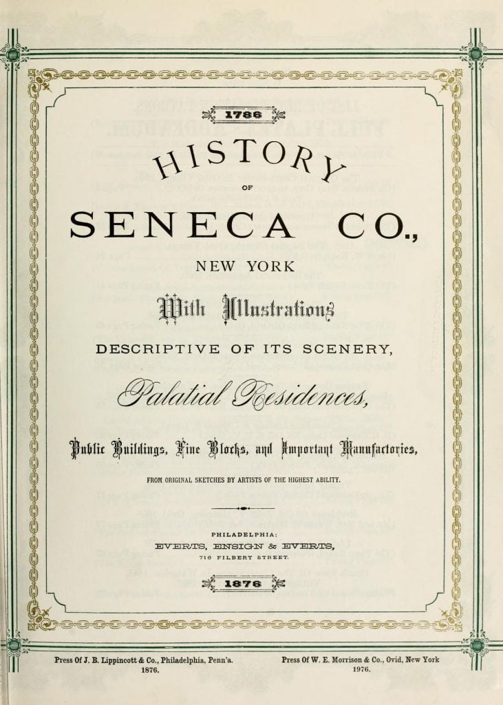 History of Seneca County New York